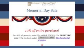 Decorative Ceiling Tile Memorial Day Sale