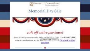 Decorative Ceiling Tile Memorial Day Sale