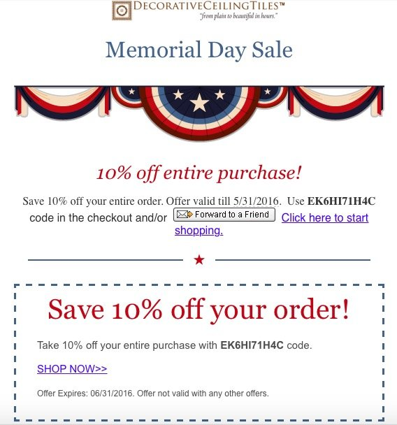 Decorative Ceiling Tiles Memorial Day Sale