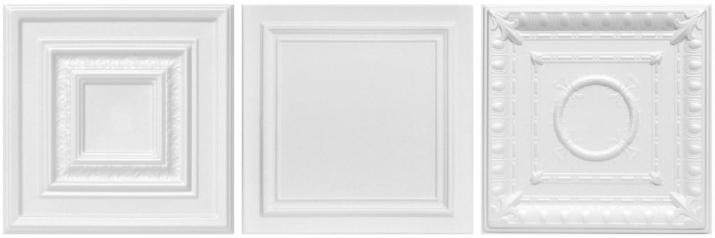 White Styrofoam Decorative Ceiling Tiles