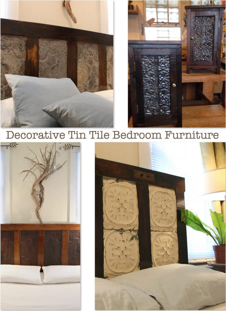 Decorative Tin Tile Bedroom Furniture