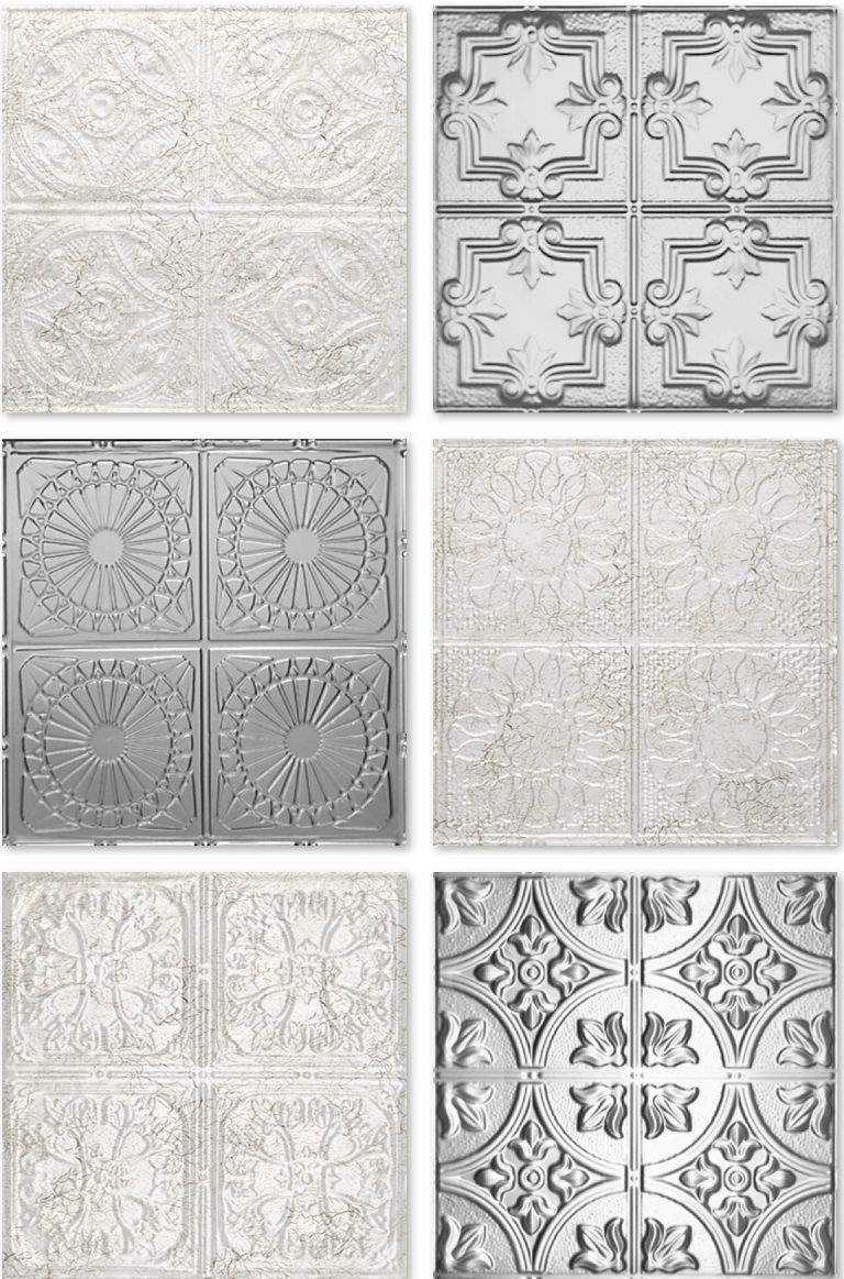 Drop Faux Tin Ceiling Tiles For 99 Cents Per