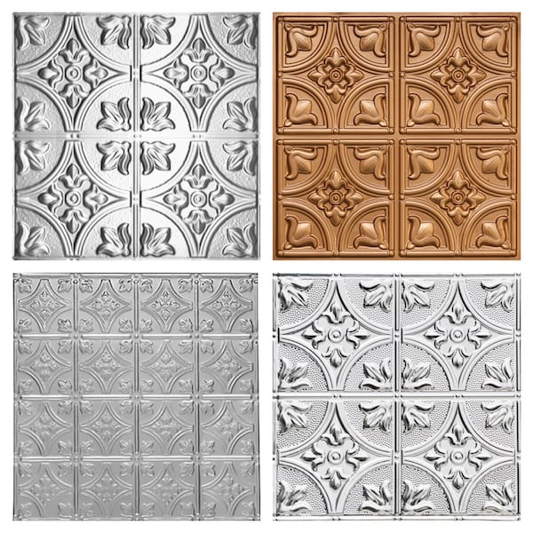 Decorative Ceiing Tiles Tulip-Like Patterns