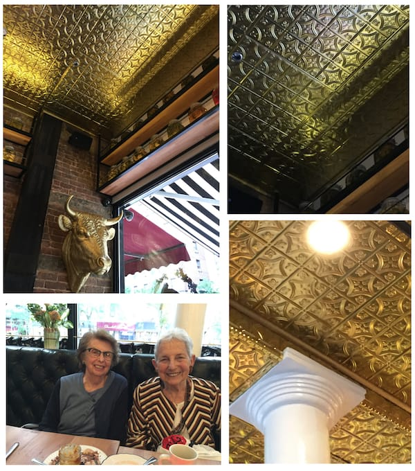 Decorative Ceiling Tiles at White Gold Butchers Restaurant in NYC