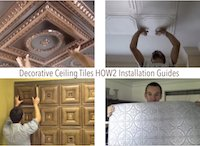 Decorative Ceiling Tile HOW2 Installation Guides