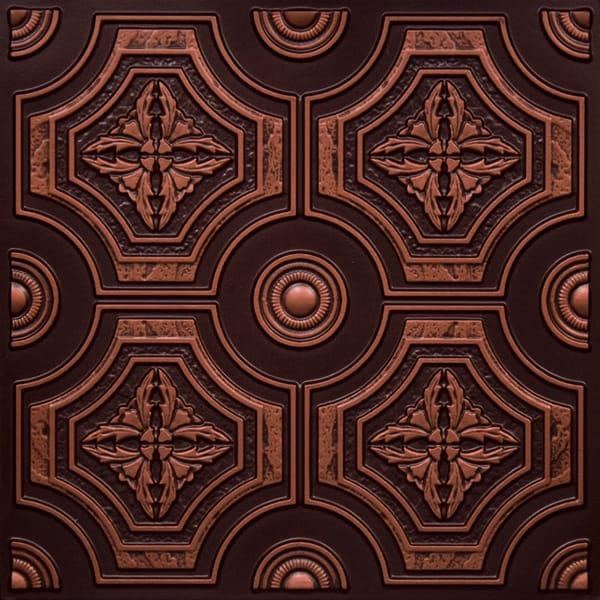 Antique copper faux tin ceiling tile