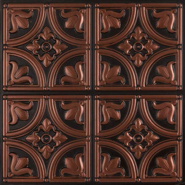 Antique copper victorian ceiling tiles