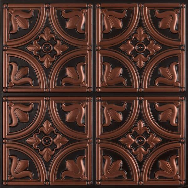 Antique copper victorian ceiling tiles