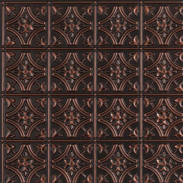 Gothic antique copper ceiling tiles faux tin