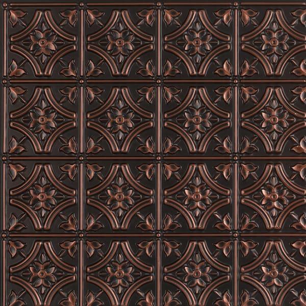 Gothic antique copper ceiling tiles faux tin