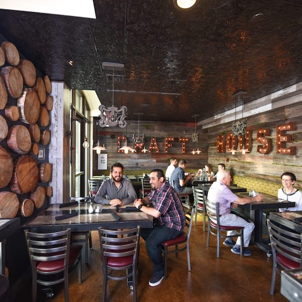 Restaurant bronze ceiling tiles