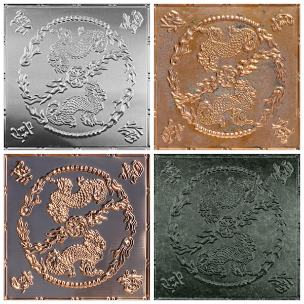 Asian Dragons Decorative Tin and Copper Ceiling Tiles